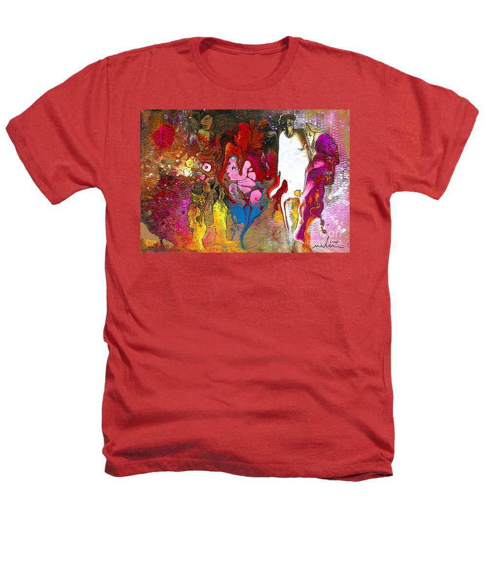 Miki Heathers T-Shirt featuring the painting The First Wedding by Miki De Goodaboom