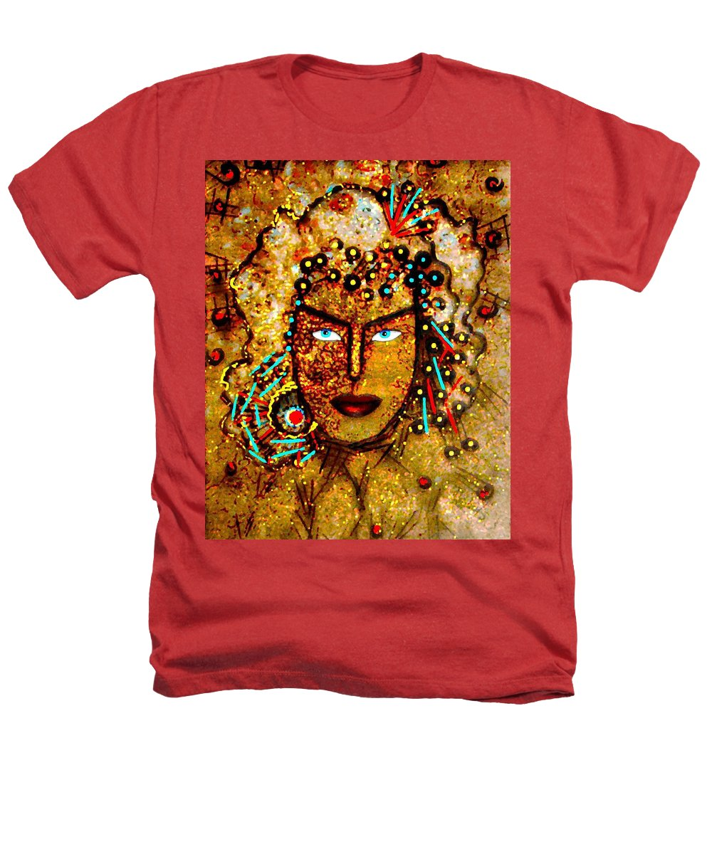 Goddess Heathers T-Shirt featuring the painting The Golden Goddess by Natalie Holland