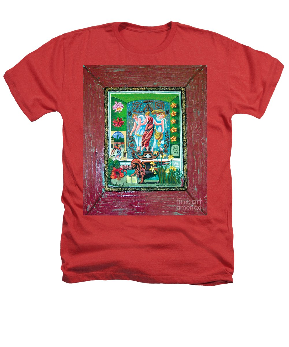 Women Heathers T-Shirt featuring the painting The Three Sisters by Genevieve Esson