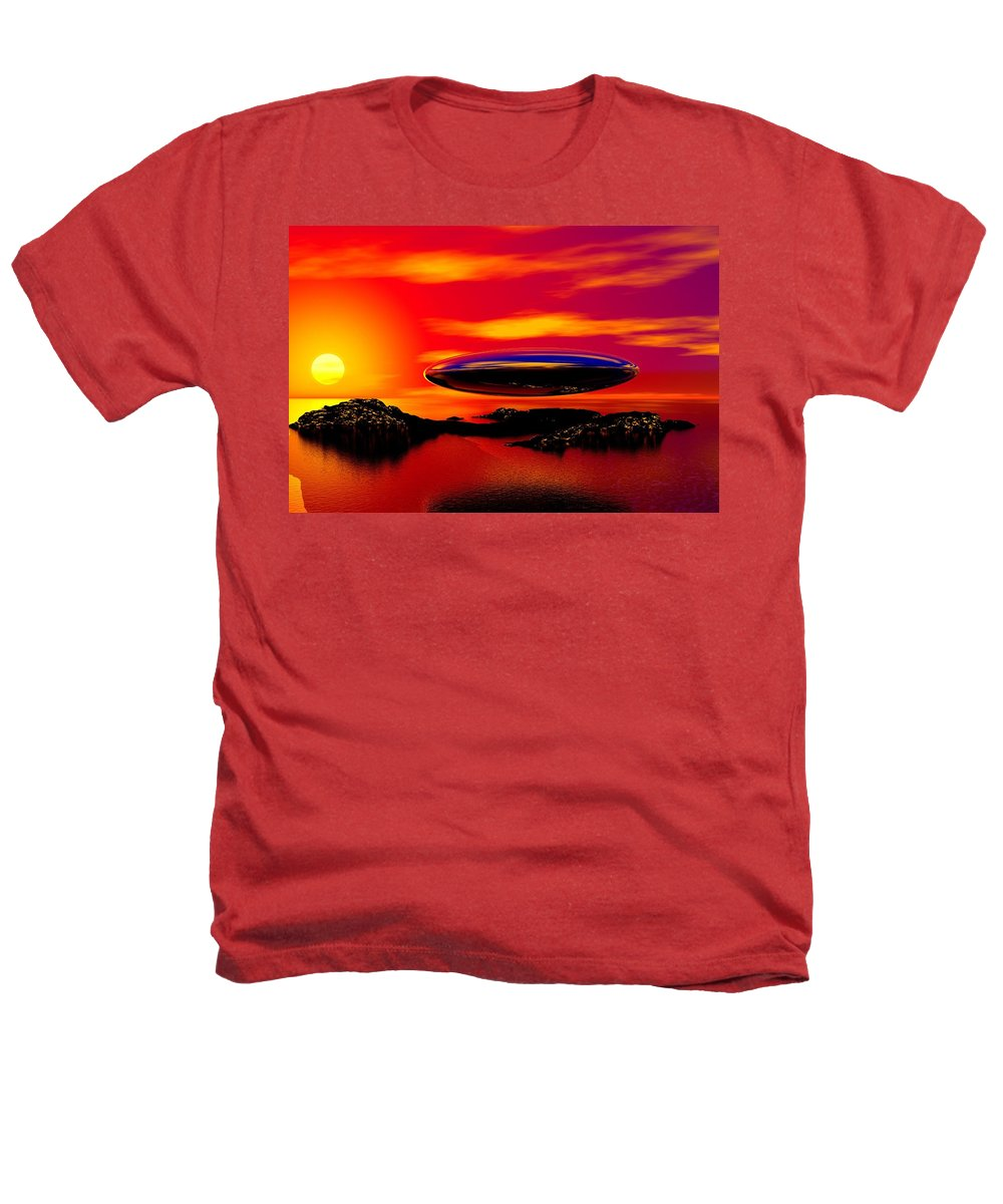 T Heathers T-Shirt featuring the digital art The Visitor by David Lane