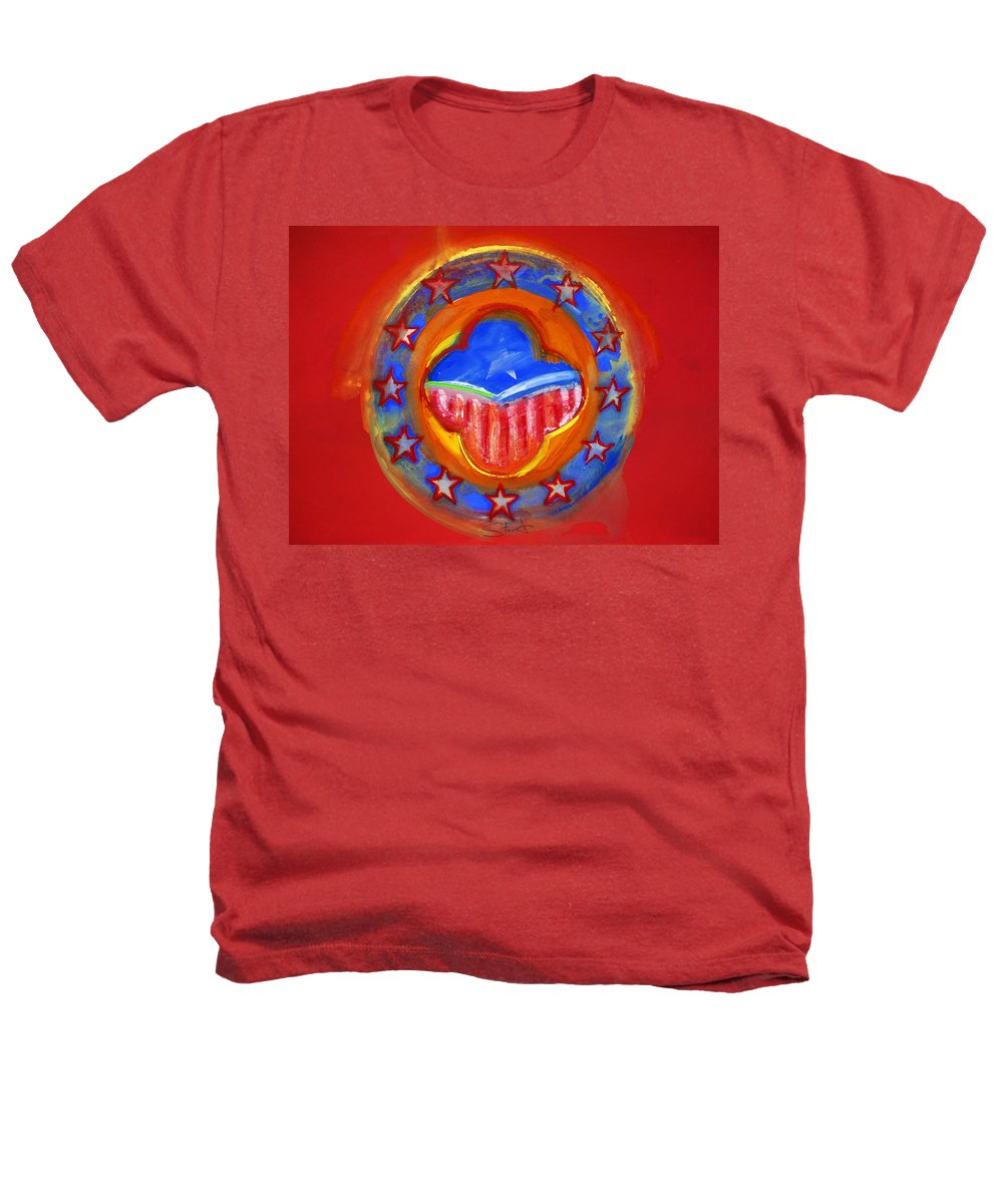 Symbol Heathers T-Shirt featuring the painting United States Of Europe by Charles Stuart