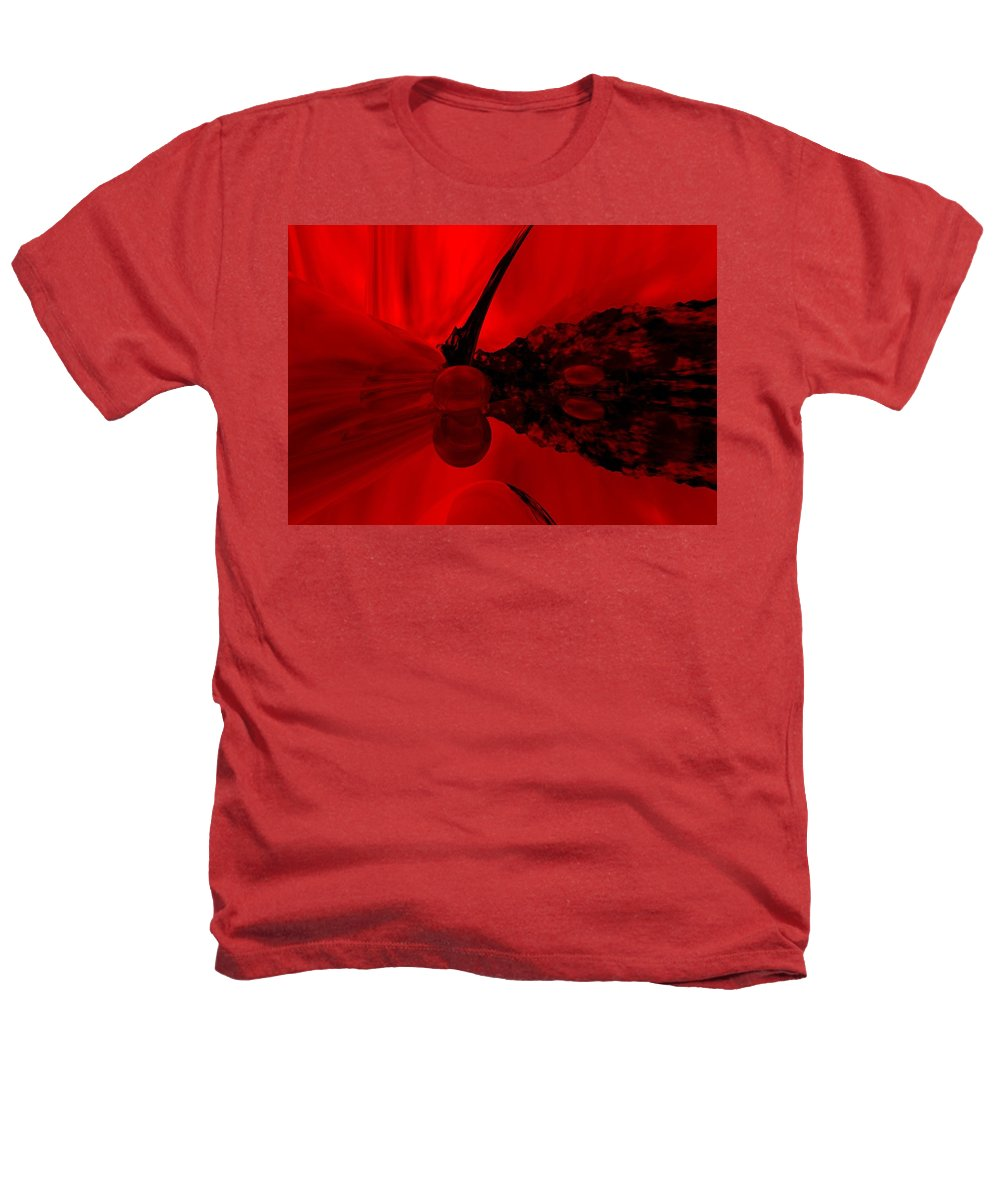 Abstract Heathers T-Shirt featuring the digital art Untitled by David Lane