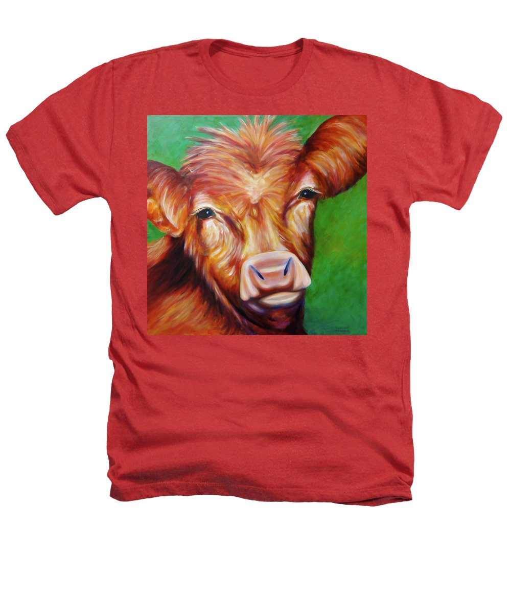 Bull Heathers T-Shirt featuring the painting Van by Shannon Grissom