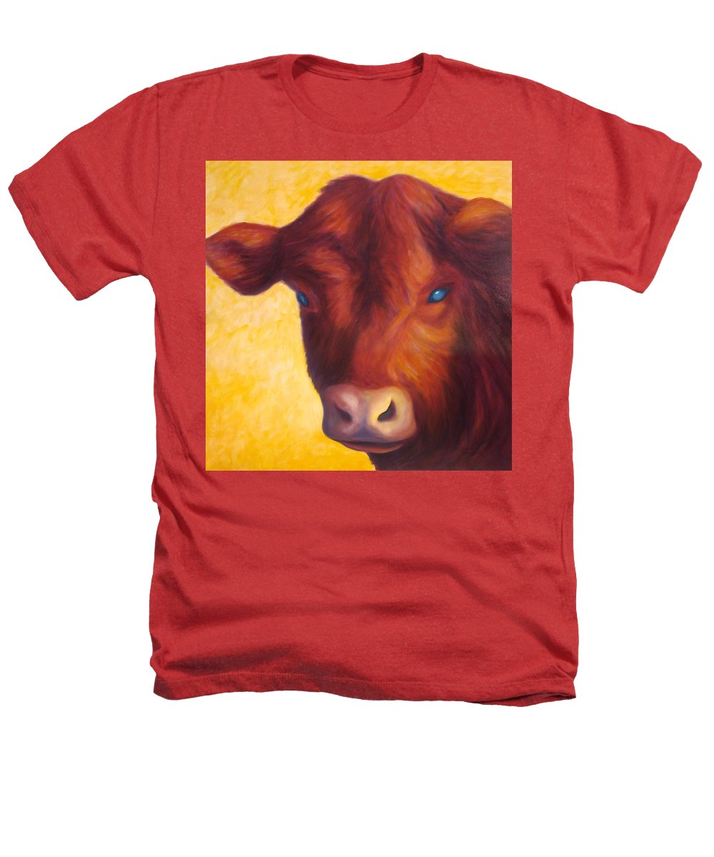 Bull Heathers T-Shirt featuring the painting Vern by Shannon Grissom