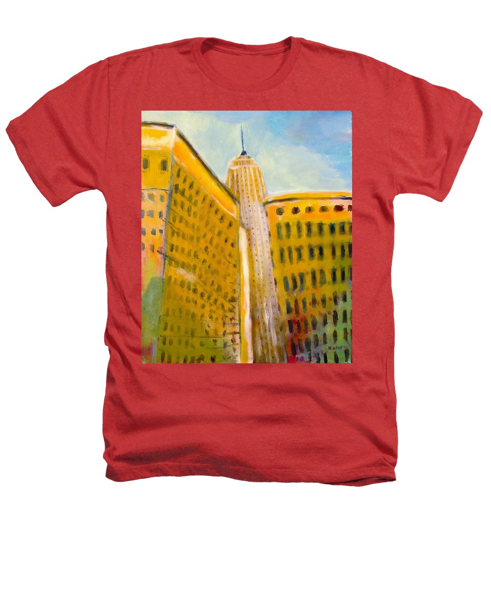 Abstract Cityscape Heathers T-Shirt featuring the painting View From The 33 St by Habib Ayat