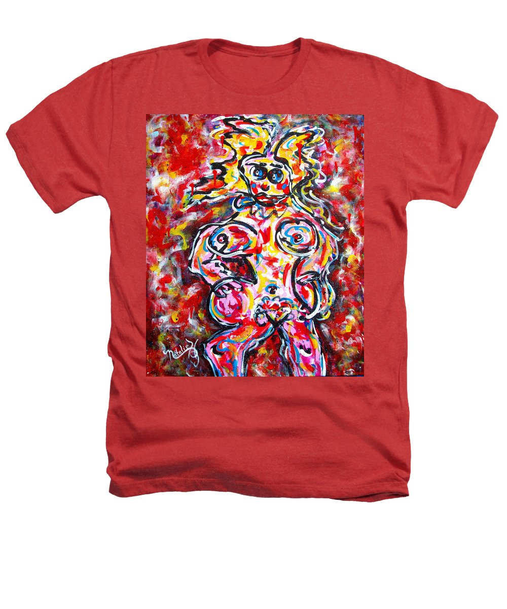 Abstracts Heathers T-Shirt featuring the painting What Are You Looking At by Natalie Holland
