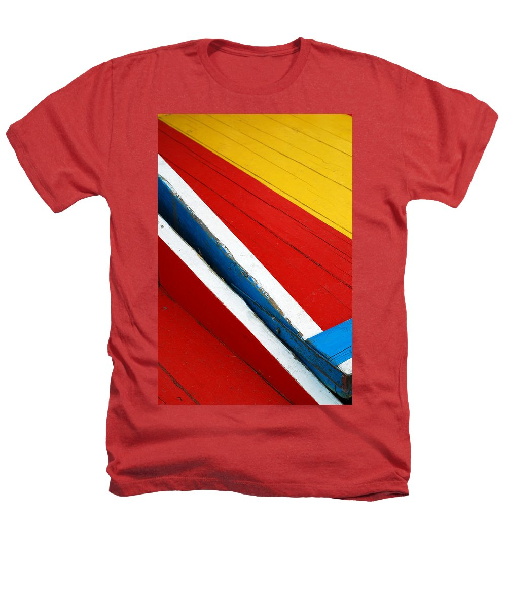 Red Heathers T-Shirt featuring the photograph Xochimilco Boat Abstract 1 by Skip Hunt
