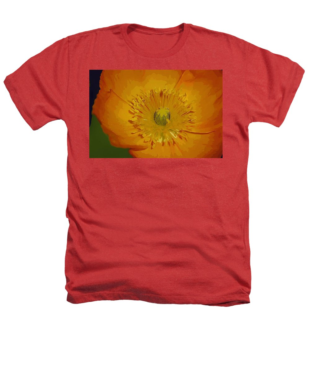 Poppy Heathers T-Shirt featuring the photograph Yellow Poppy by Donna Bentley