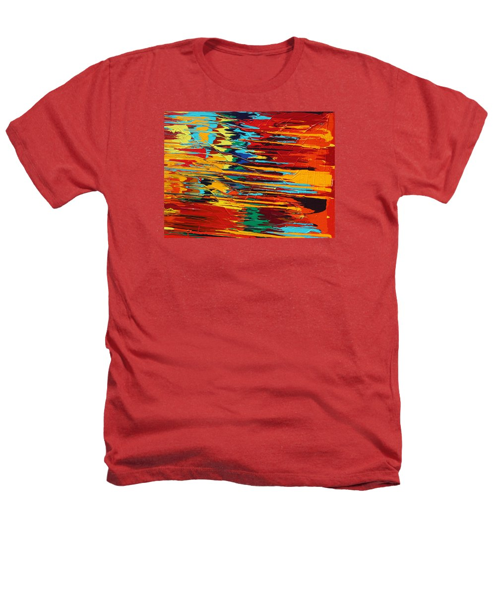 Fusionart Heathers T-Shirt featuring the painting Zap by Ralph White