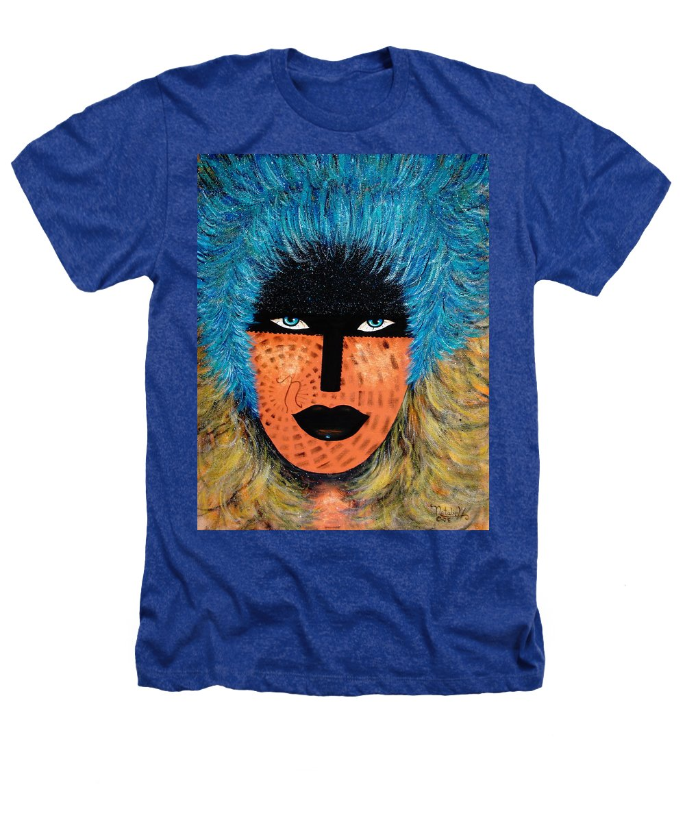 Woman Heathers T-Shirt featuring the painting Viva Niva by Natalie Holland