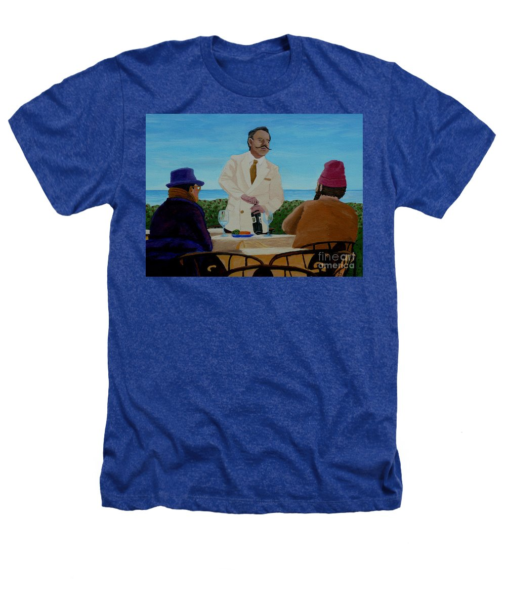 Wine Heathers T-Shirt featuring the painting A Fresh Bottle by Anthony Dunphy
