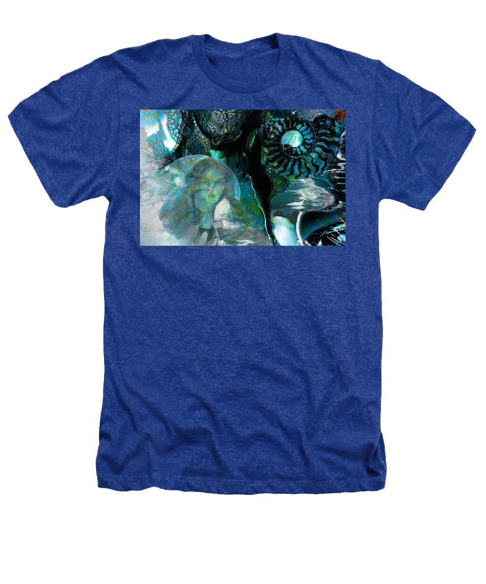 Ocean Heathers T-Shirt featuring the digital art Ammonite Seascape by Lisa Yount