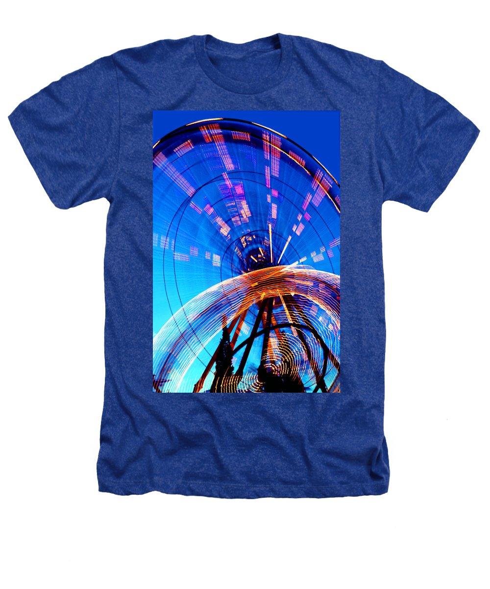 Amusement Park Heathers T-Shirt featuring the photograph Amusement Park Rides 1 by Steve Ohlsen