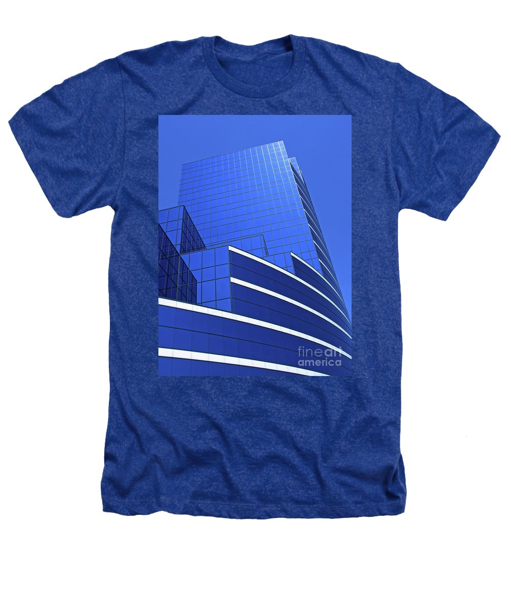 Architecture Heathers T-Shirt featuring the photograph Architectural Blues by Ann Horn