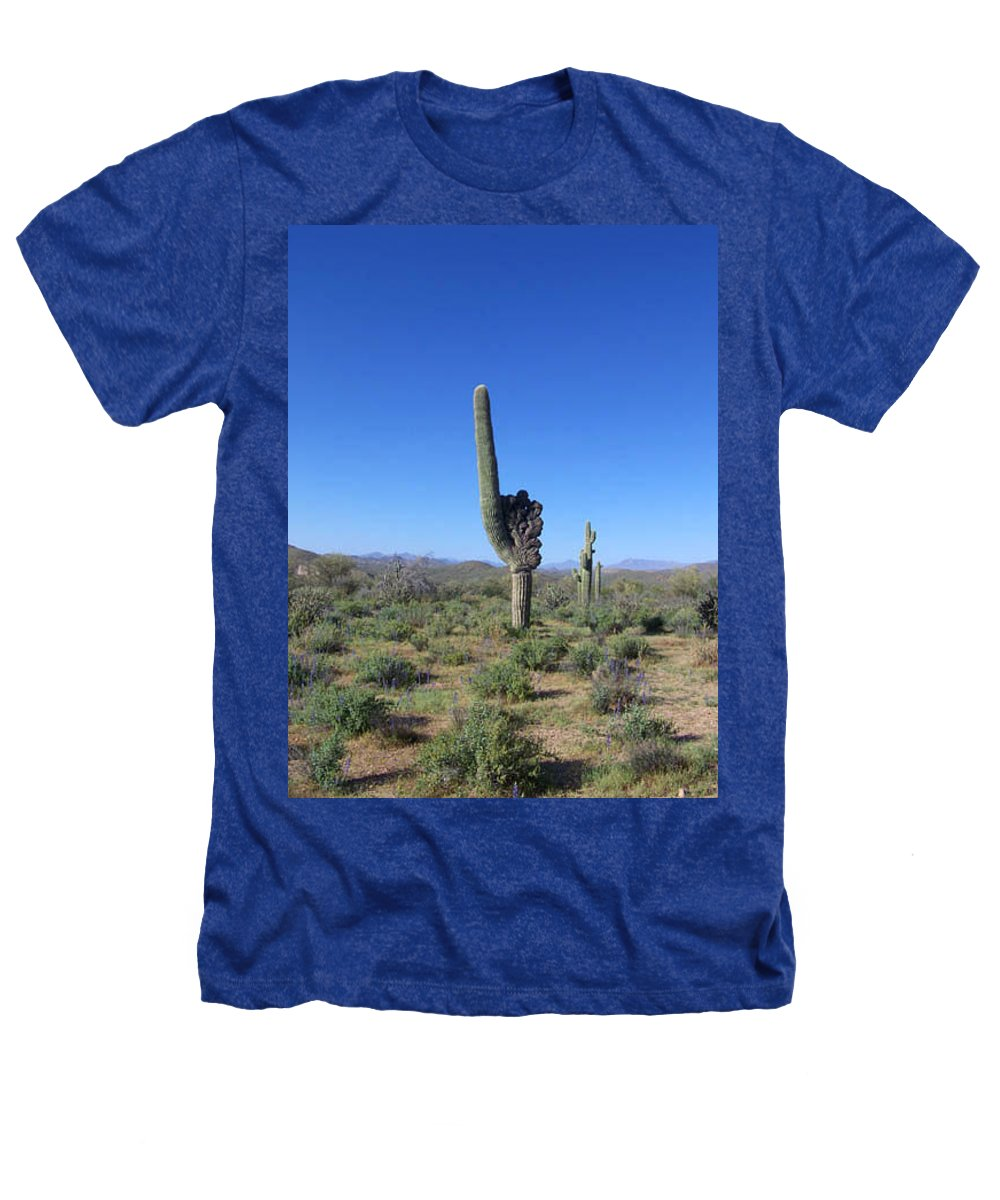 Sahuaro Heathers T-Shirt featuring the photograph Arizona Is Number One by Kathy McClure