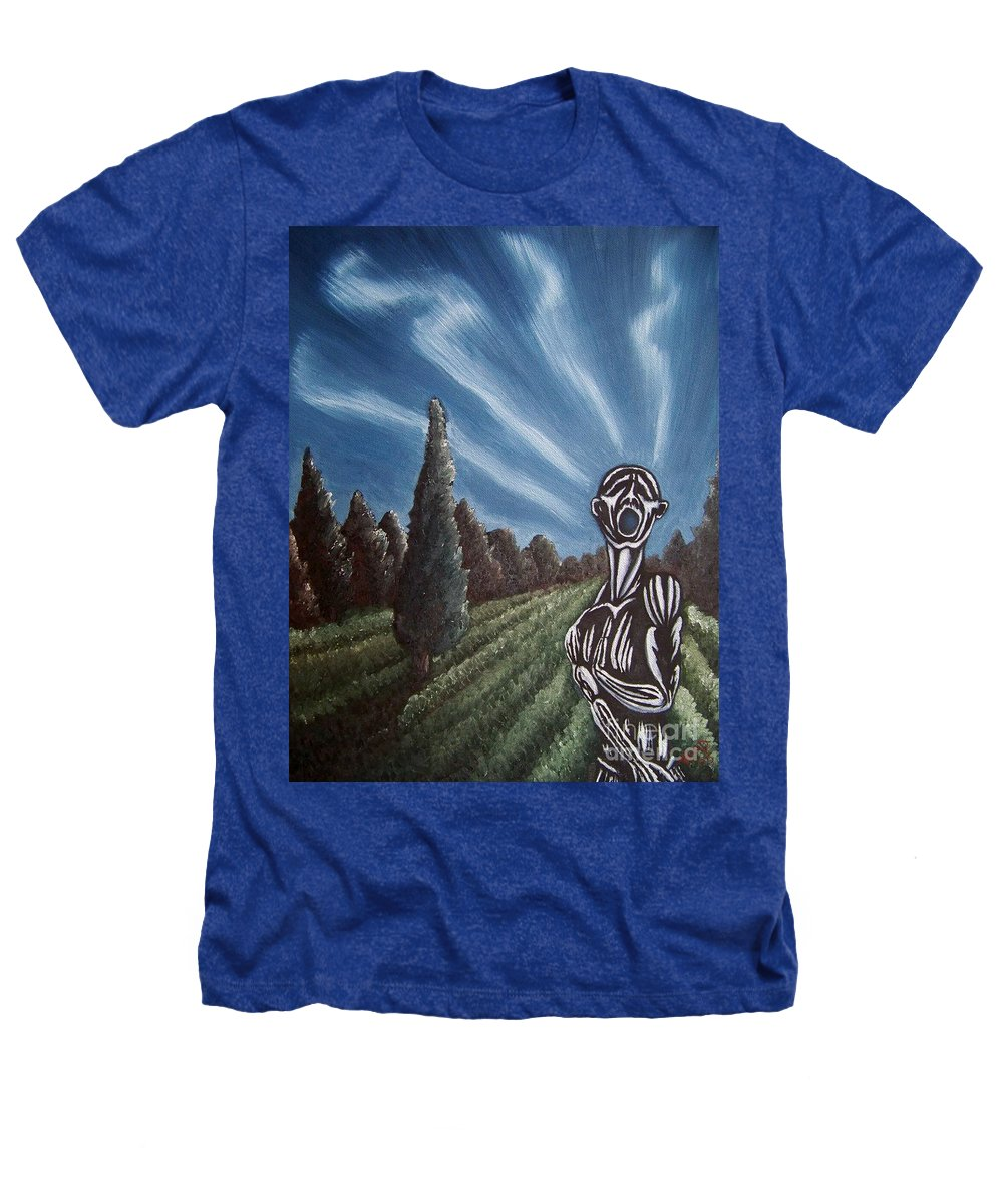 Tmad Heathers T-Shirt featuring the painting Aurora by Michael TMAD Finney