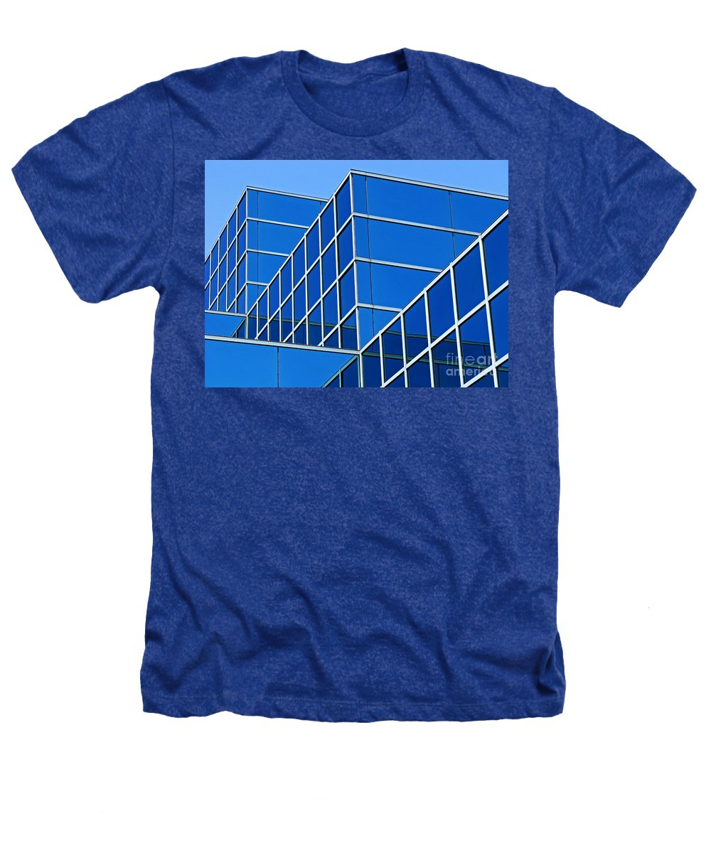 Building Heathers T-Shirt featuring the photograph Boldly Blue by Ann Horn
