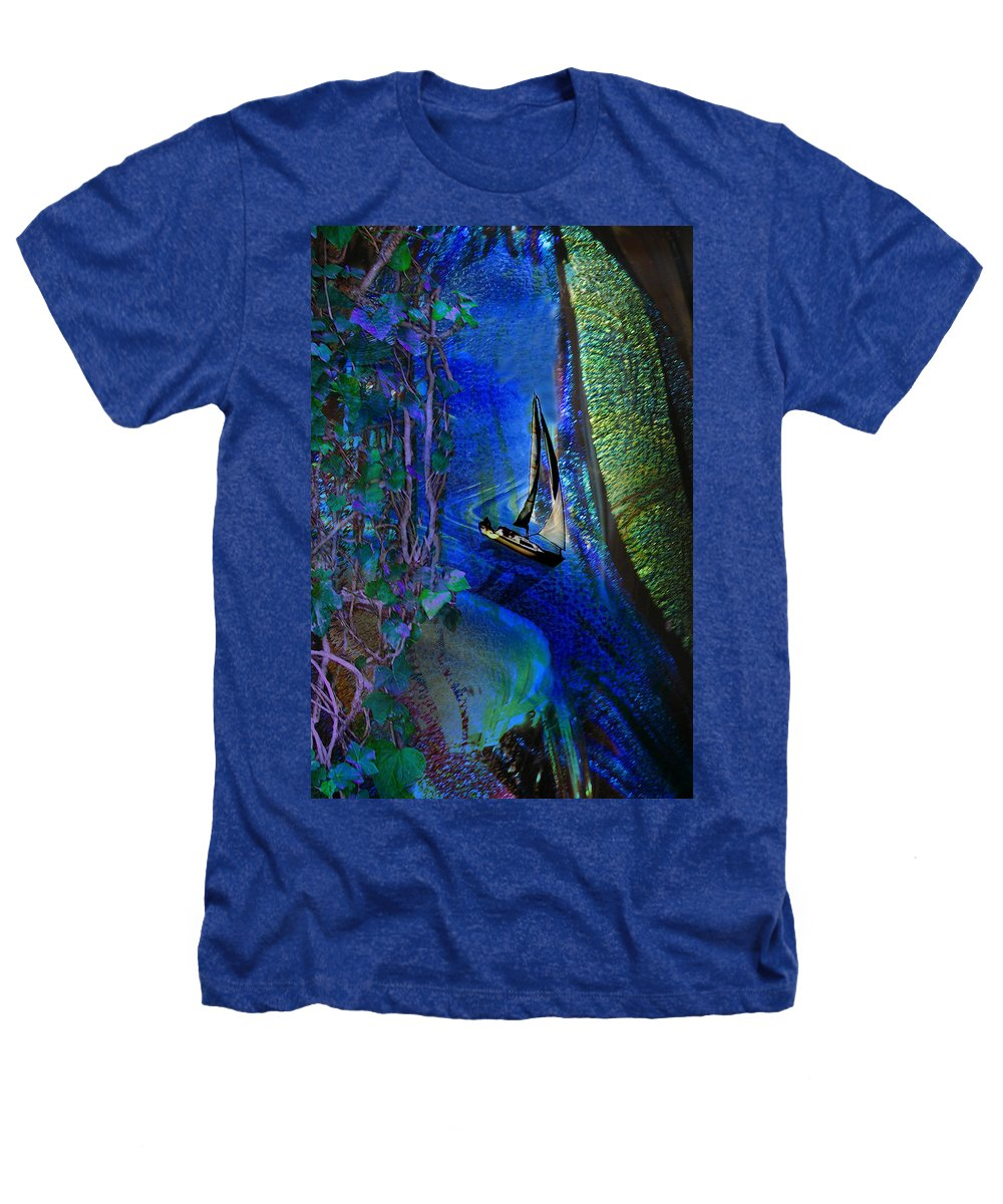 Dark River Heathers T-Shirt featuring the digital art Dark River by Lisa Yount