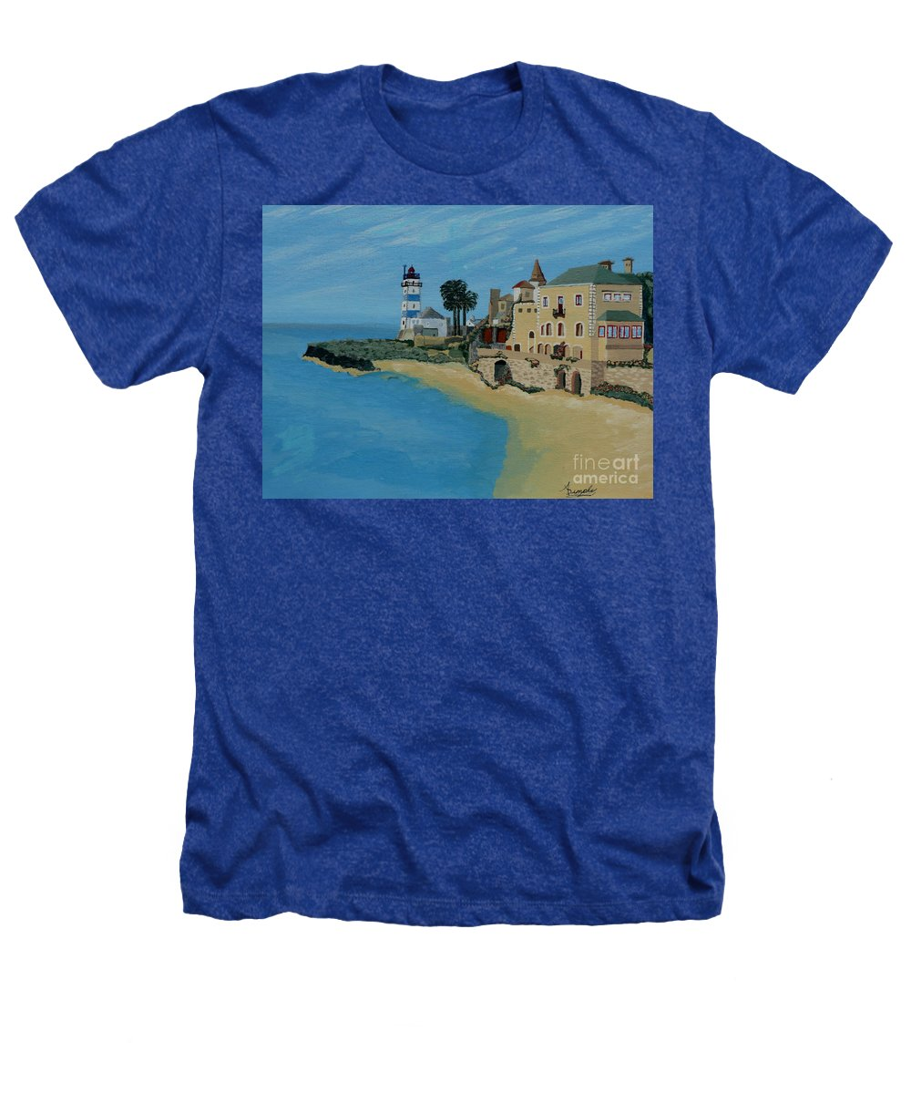 Lighthouse Heathers T-Shirt featuring the painting European Lighthouse by Anthony Dunphy