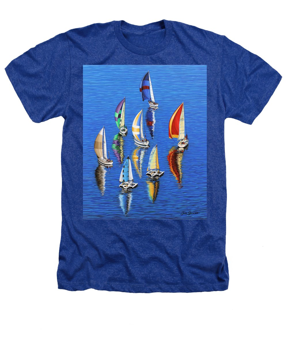 Ocean Heathers T-Shirt featuring the painting Morning Reflections by Jane Girardot
