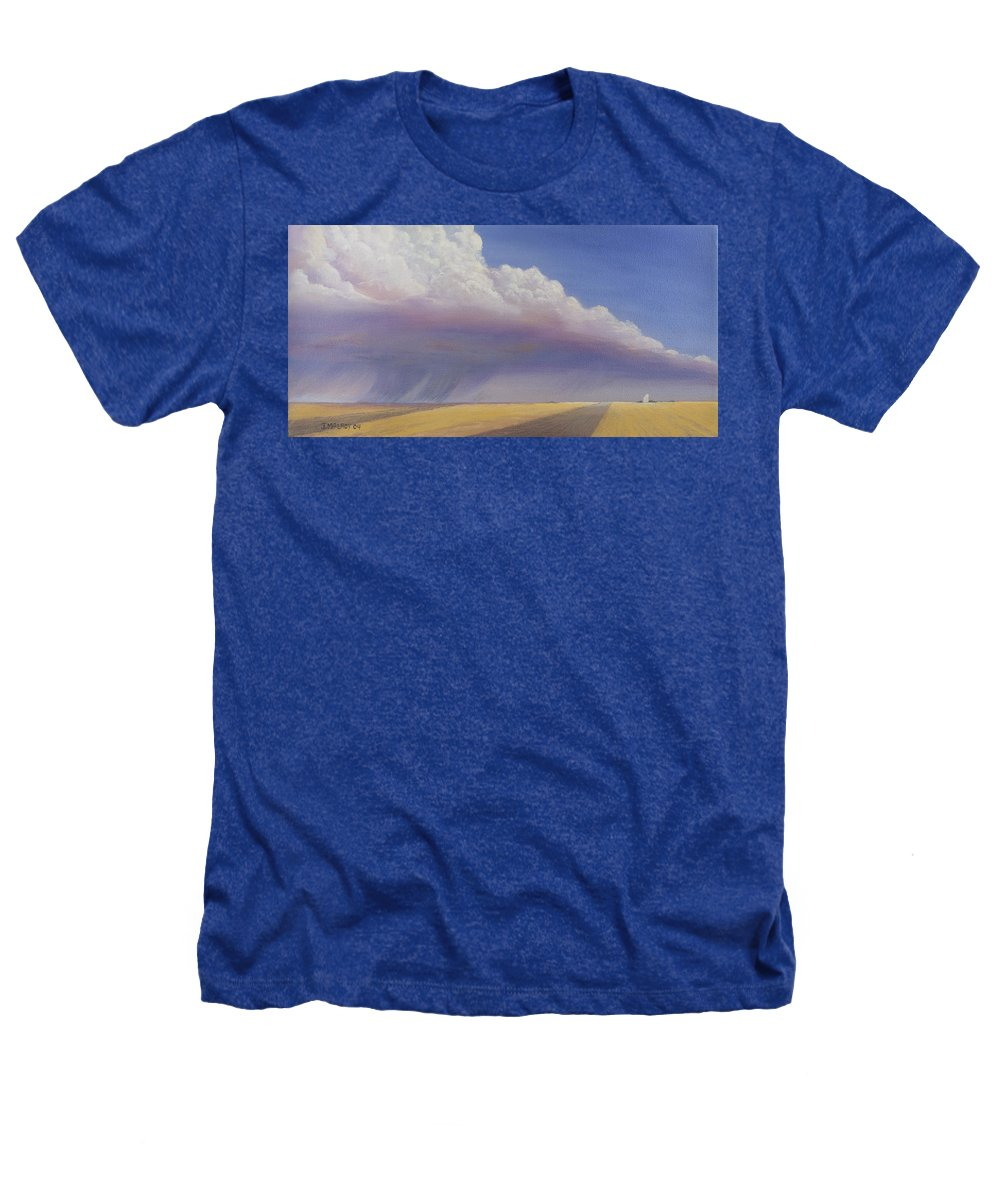 Landscape Heathers T-Shirt featuring the painting Nebraska Vista by Jerry McElroy