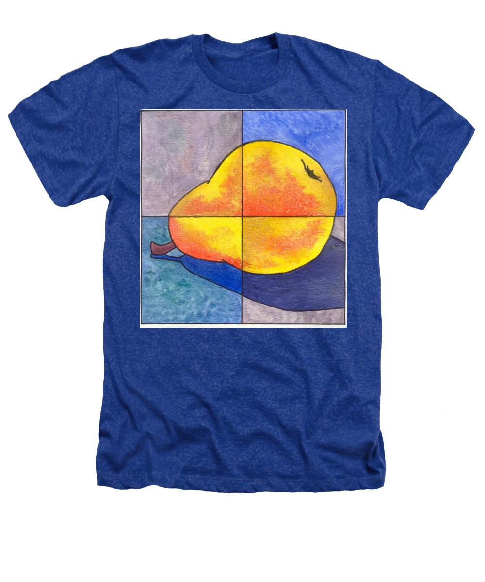 Pear Heathers T-Shirt featuring the painting Pear I by Micah Guenther