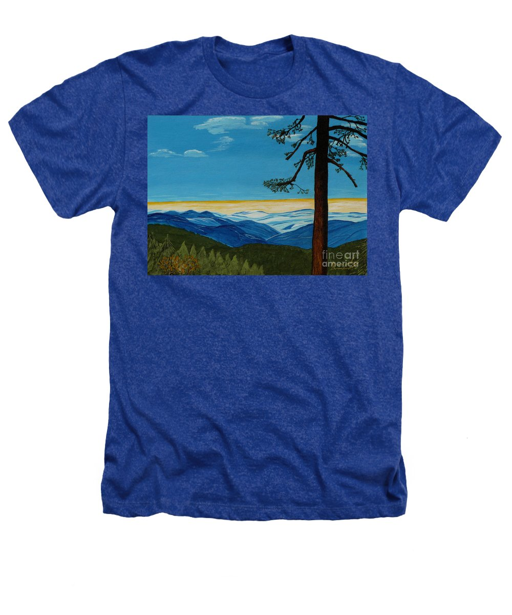 Mountain Heathers T-Shirt featuring the painting Tranquil Solitude by Anthony Dunphy