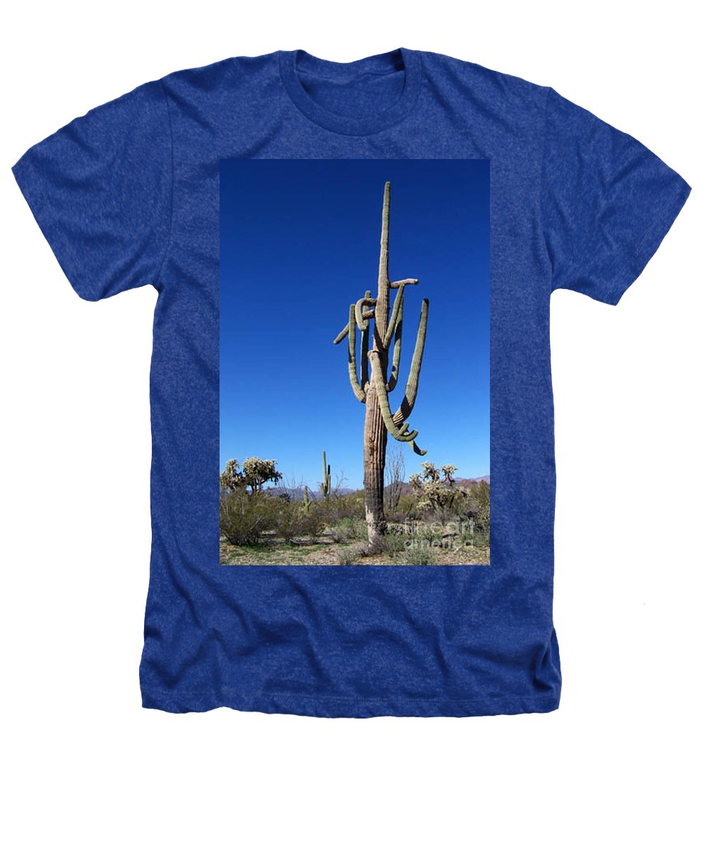 Sahuaro Heathers T-Shirt featuring the photograph Twisted Sentinal by Kathy McClure