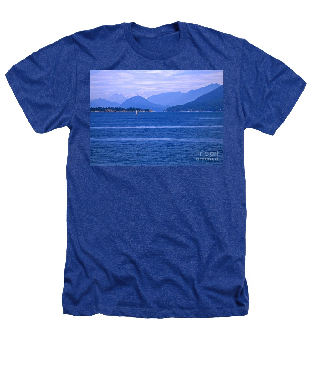 Sailboat Heathers T-Shirt featuring the photograph Solitary Sailing by Ann Horn
