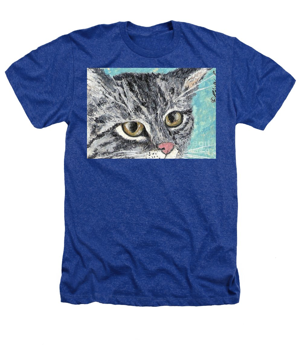 Cats Heathers T-Shirt featuring the painting Tiger Cat by Reina Resto