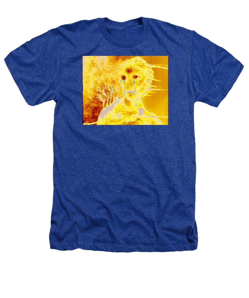 Blue Heathers T-Shirt featuring the painting Untitled by Veronica Jackson