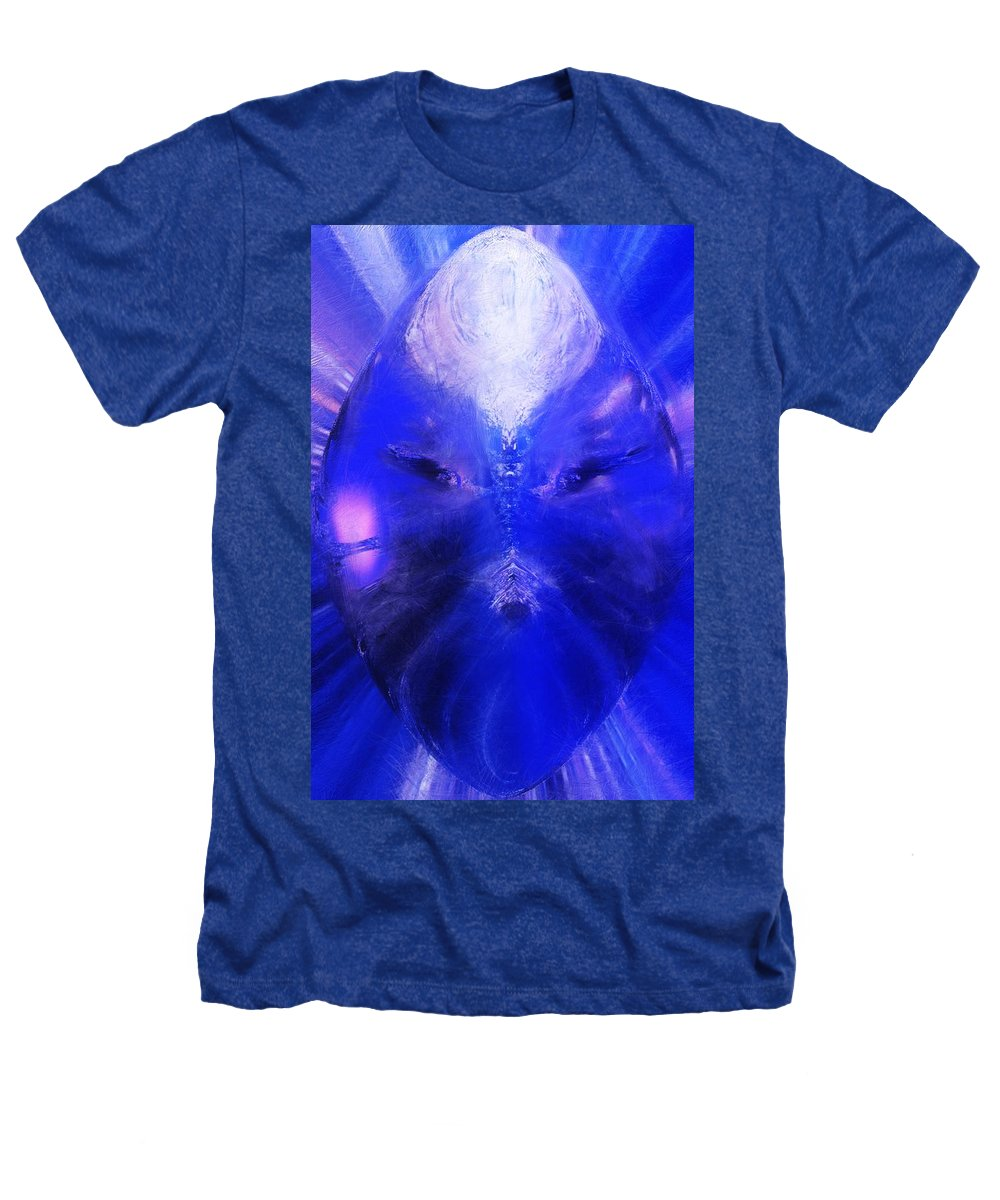 Digital Painting Heathers T-Shirt featuring the digital art An Alien Visage by David Lane