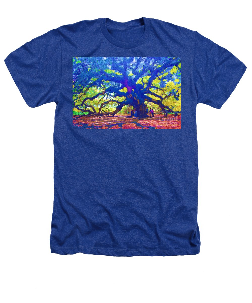 Tree Heathers T-Shirt featuring the photograph Angel Oak Tree by Donna Bentley