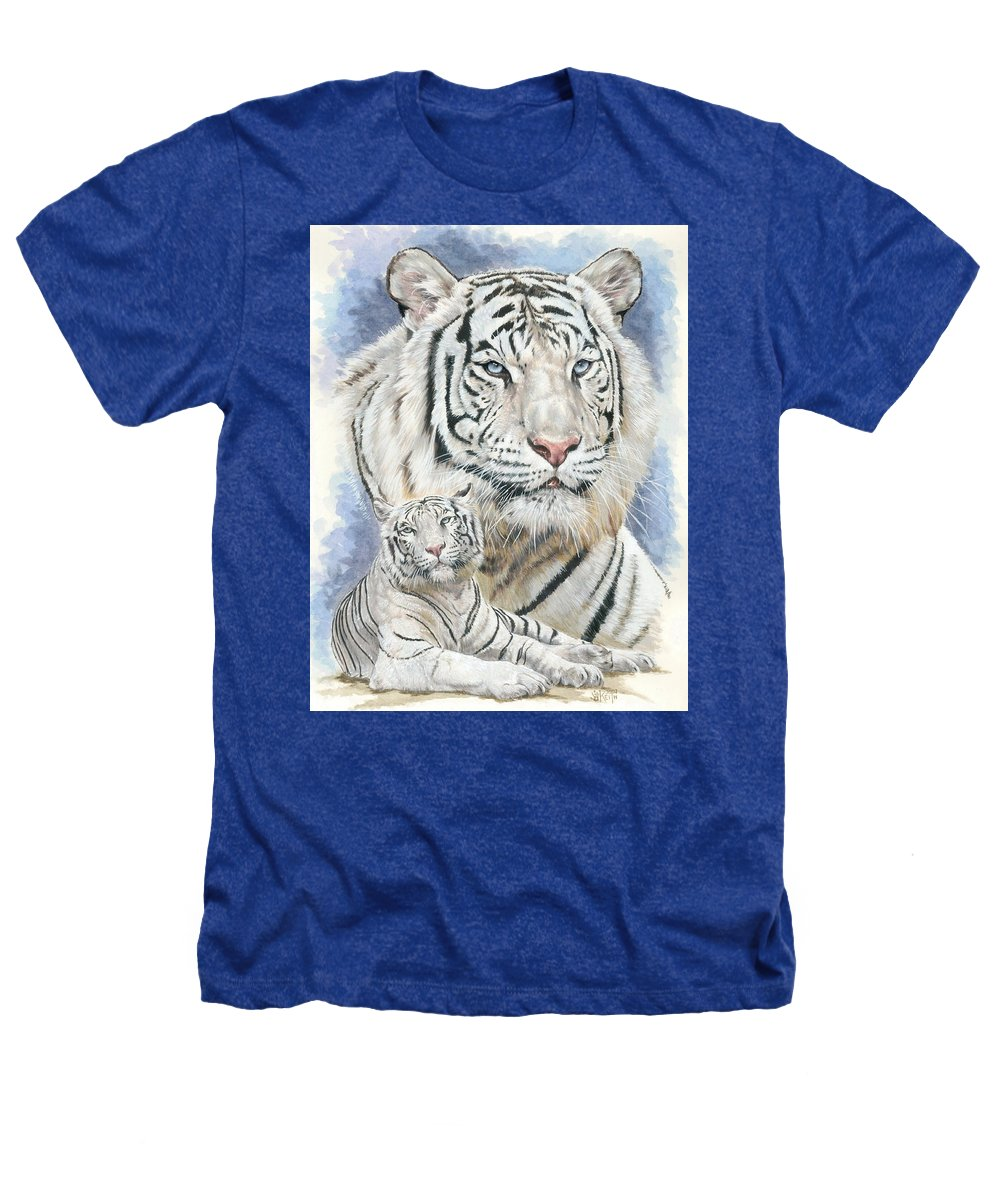 Big Cat Heathers T-Shirt featuring the mixed media Dignity by Barbara Keith