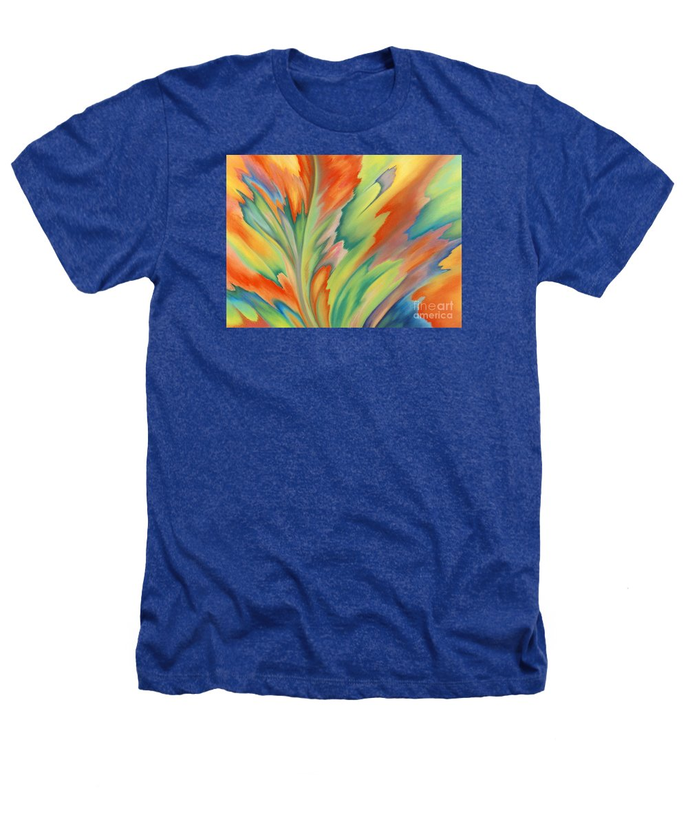 Abstract Heathers T-Shirt featuring the painting Autumn Flame by Lucy Arnold