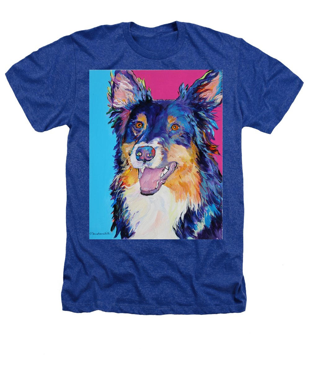 Dog Heathers T-Shirt featuring the painting Blackjack by Pat Saunders-White