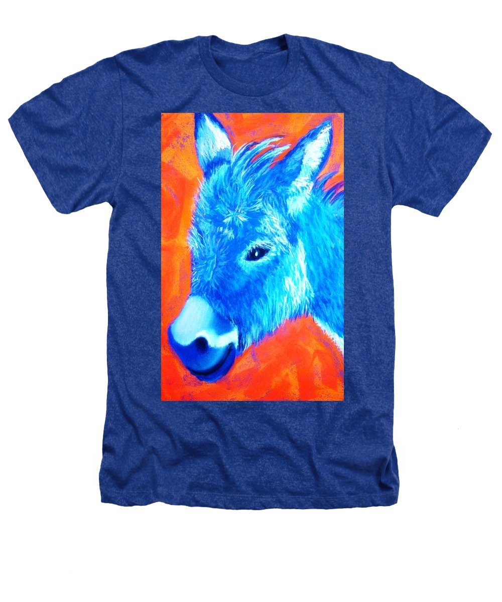 Burro Heathers T-Shirt featuring the painting Blue Burrito by Melinda Etzold