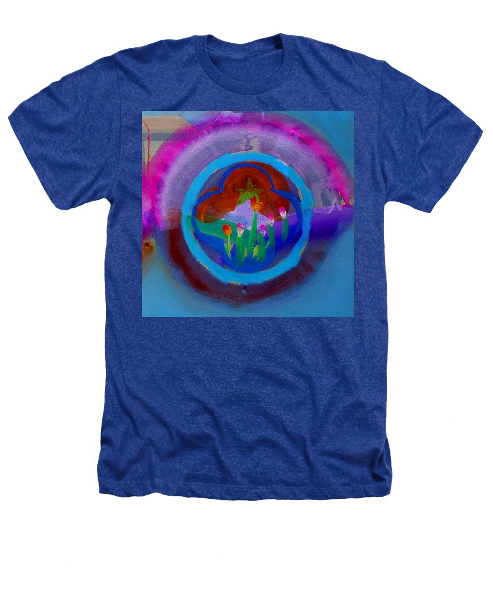 Love Heathers T-Shirt featuring the painting Blue Embrace by Charles Stuart