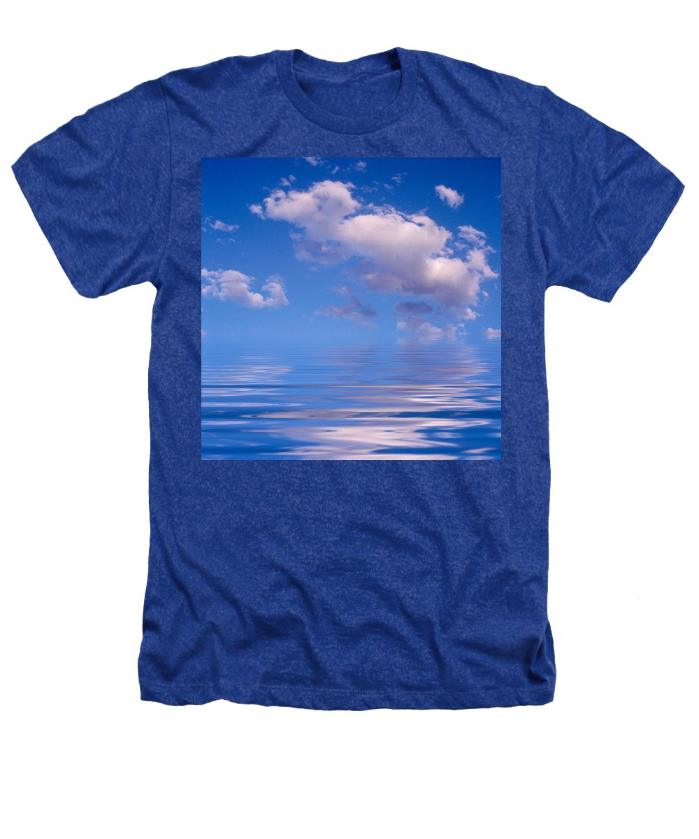 Original Art Heathers T-Shirt featuring the photograph Blue Sky Reflections by Jerry McElroy