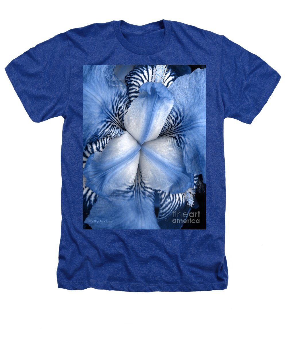 Jphotography Heathers T-Shirt featuring the photograph Blue Tiger Iris by Shelley Jones