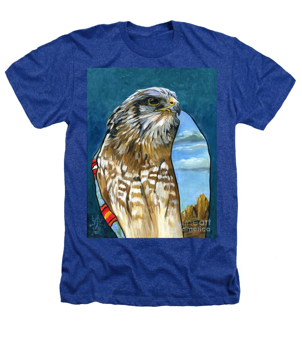 Hawk Heathers T-Shirt featuring the painting Brother Hawk by J W Baker