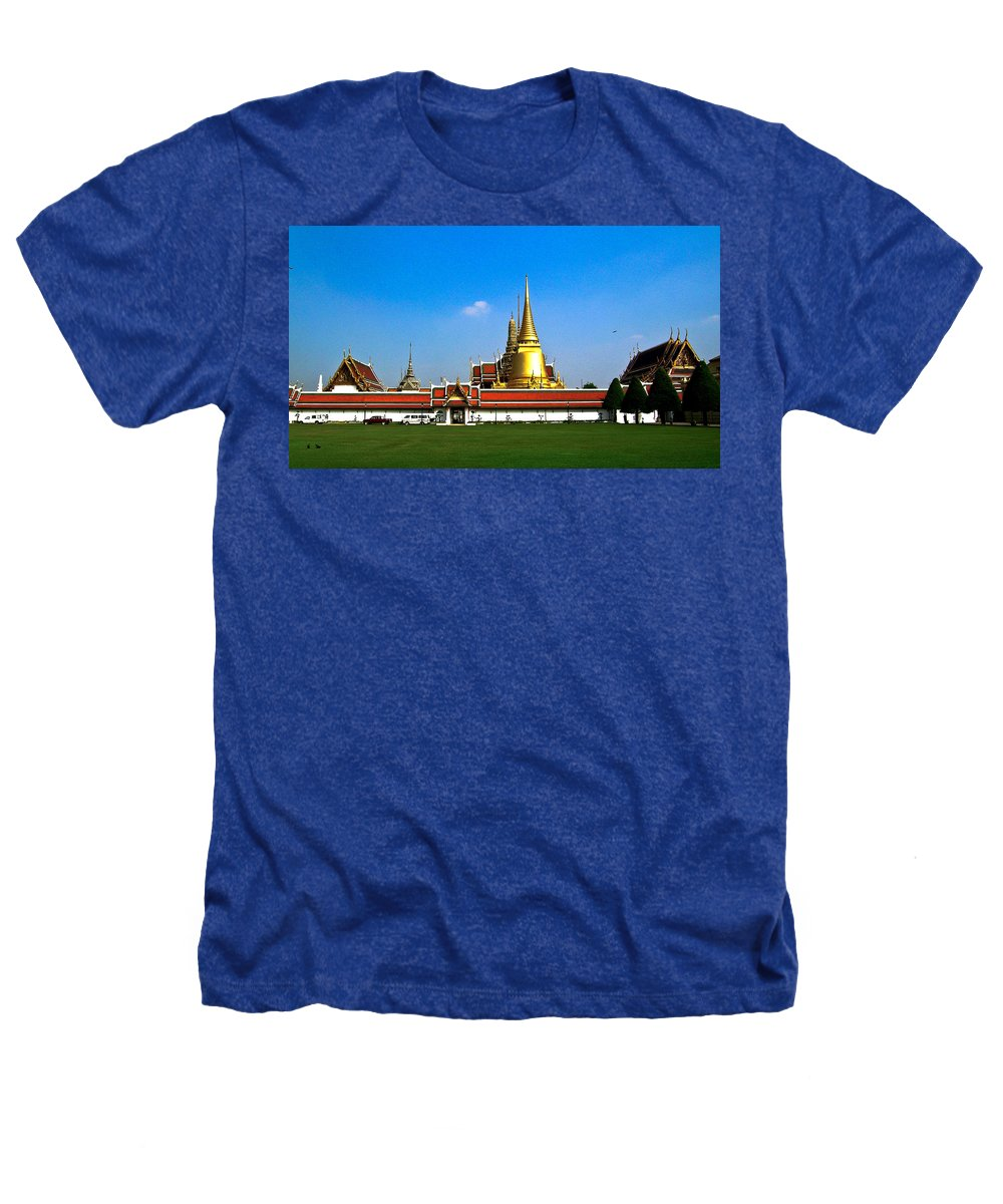 Buddha Heathers T-Shirt featuring the photograph Buddhaist Temple by Douglas Barnett