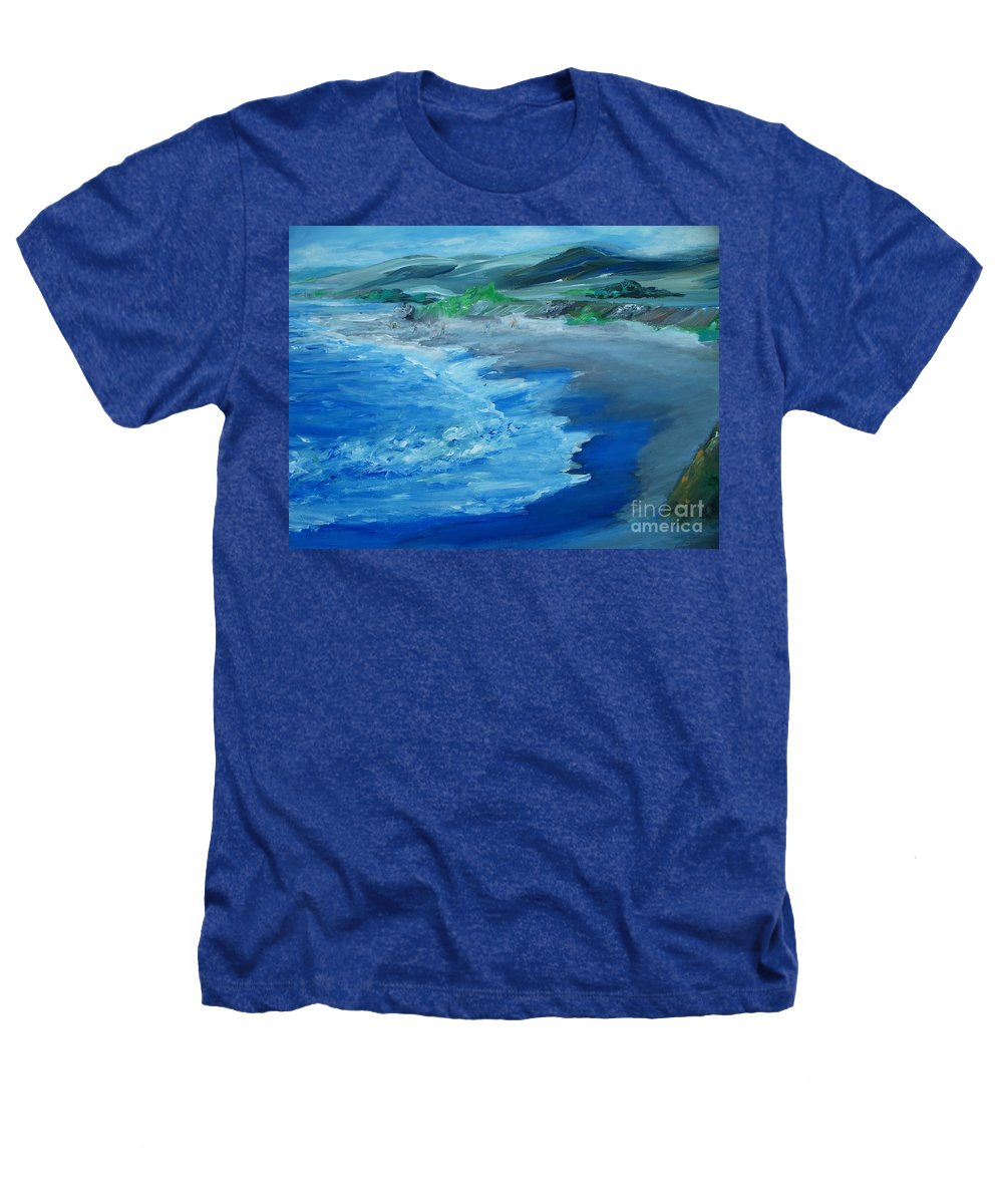 California Coast Heathers T-Shirt featuring the painting California Coastline Impressionism by Eric Schiabor