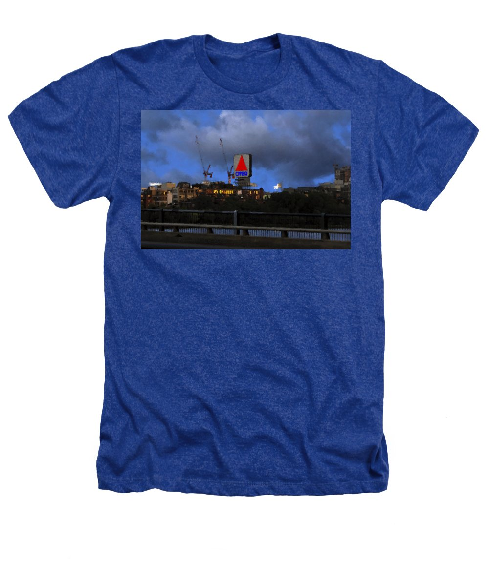 Citgo Sign Heathers T-Shirt featuring the digital art Citgo Sign by Edward Cardini
