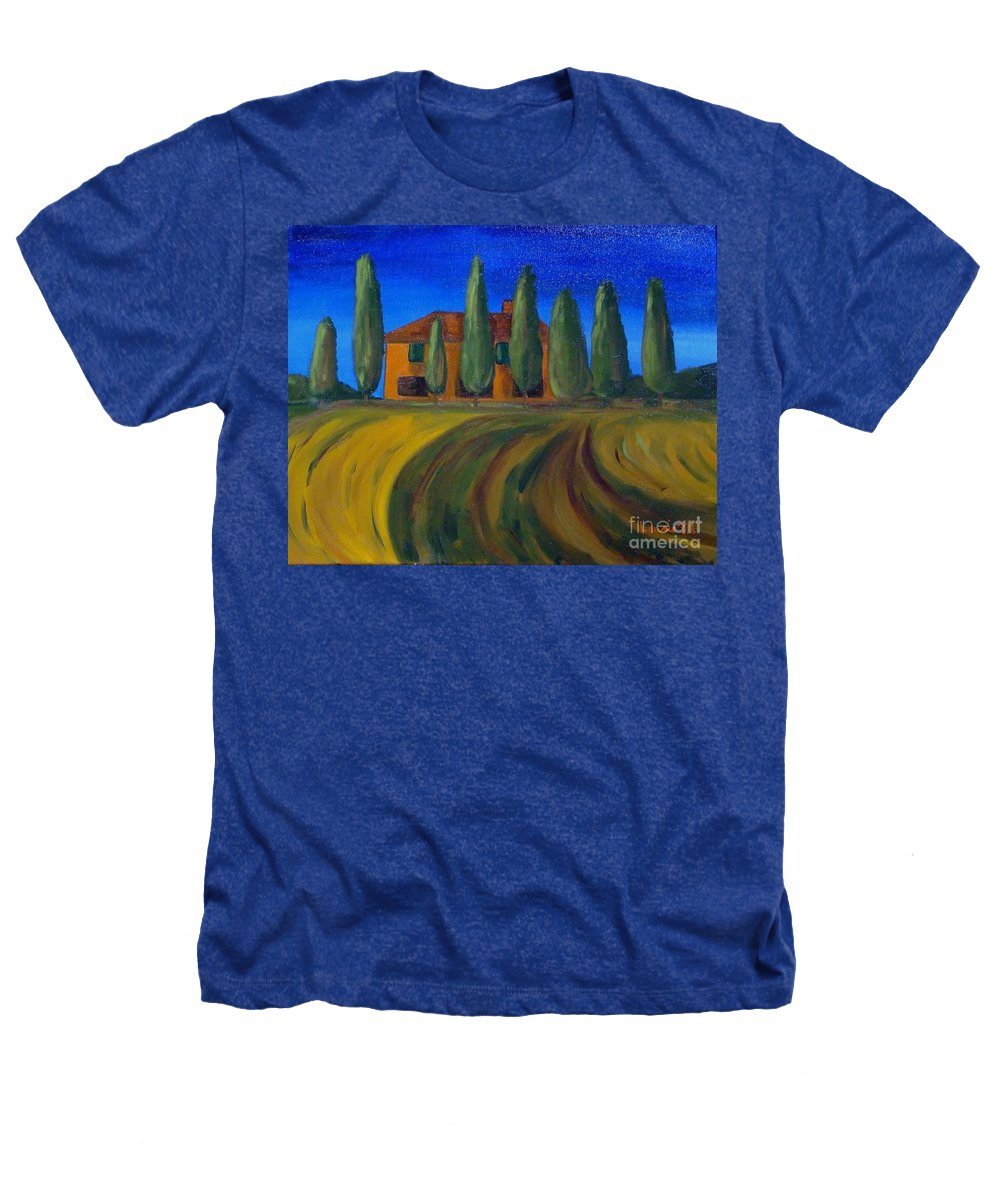 Tuscany Heathers T-Shirt featuring the painting Classic Tuscan Sunset by Laurie Morgan