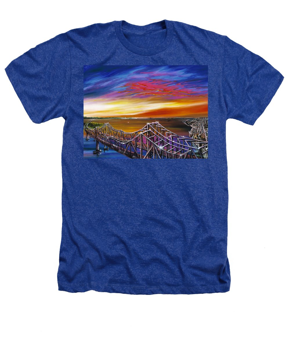 Clouds Heathers T-Shirt featuring the painting Cooper River Bridge by James Christopher Hill