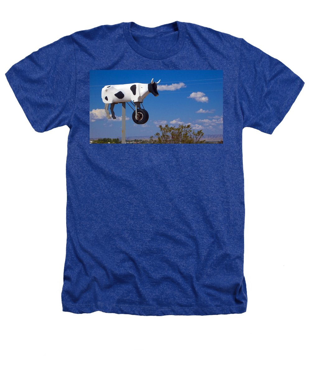 Cow Heathers T-Shirt featuring the photograph Cow Power by Skip Hunt