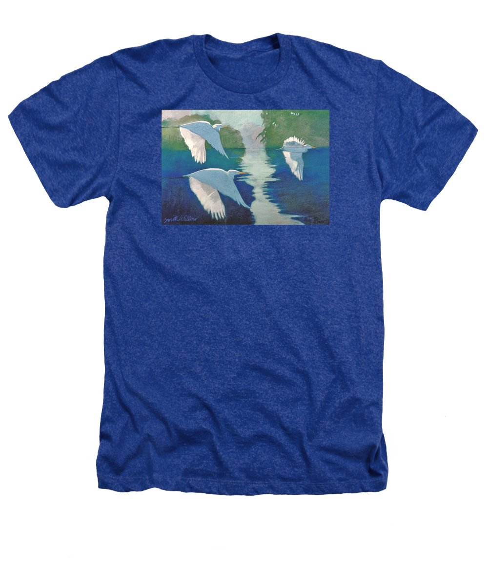 Birds Heathers T-Shirt featuring the painting Dawn Patrol by Neal Smith-Willow
