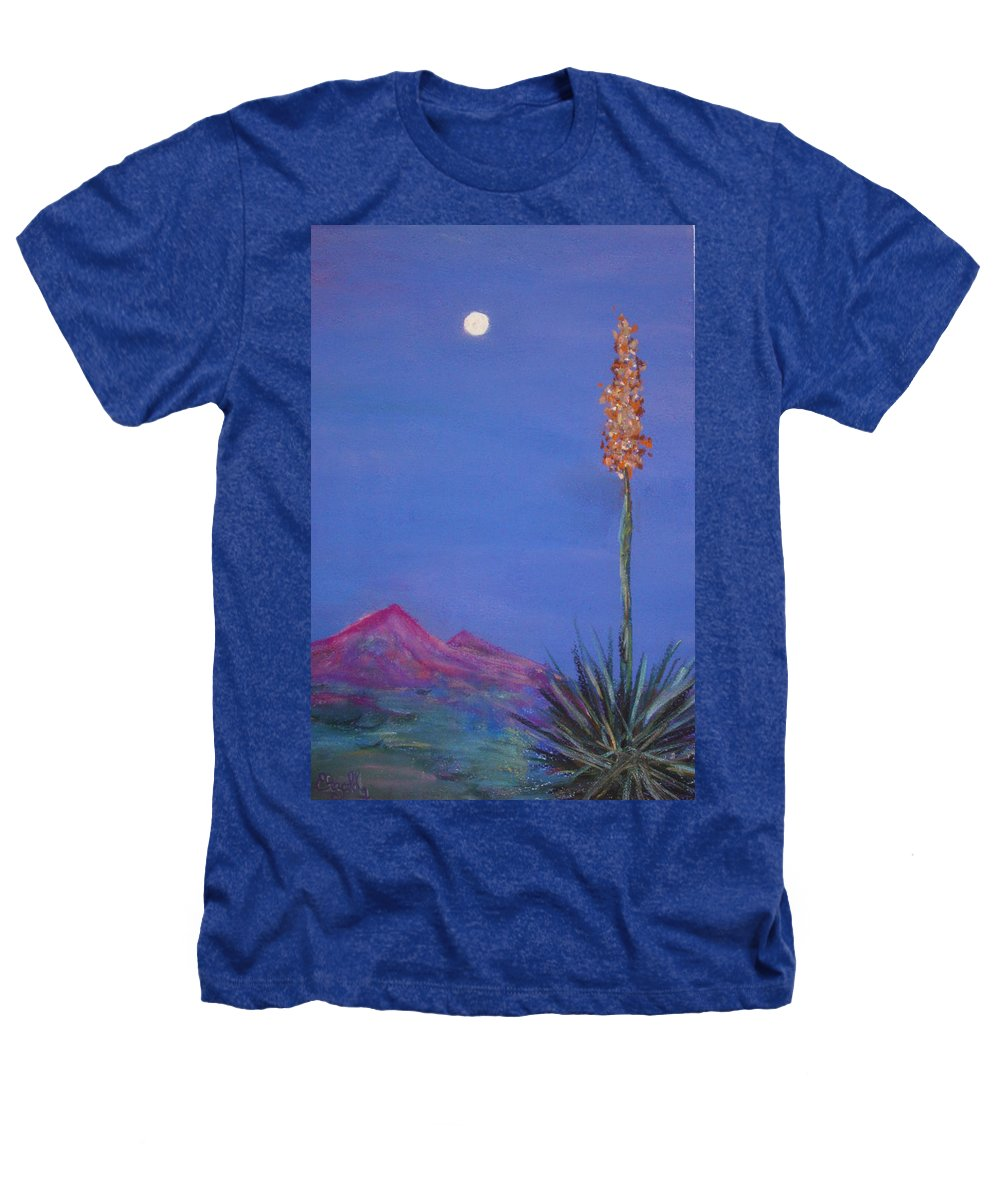 Evening Heathers T-Shirt featuring the painting Dusk by Melinda Etzold