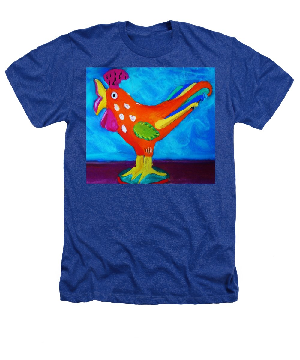 Bird Heathers T-Shirt featuring the pastel Dusty's Chick by Melinda Etzold